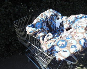 Puppy print  baby shopping cart cover/ high chair cover