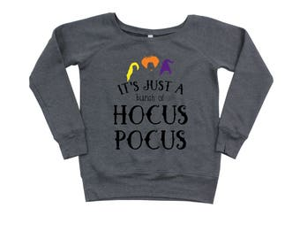 Sanderson Sisters - Adult Hocus Pocus - I Put a Spell On You - Halloween Shirt - Slouchy Sweater - Hocus Pocus Sweater - Womens Shirt
