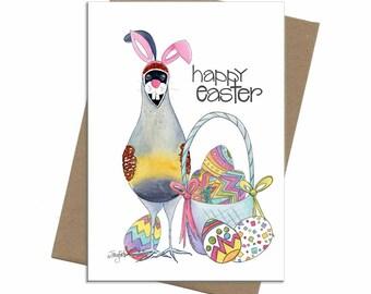 Southwest Quail | Easter Card