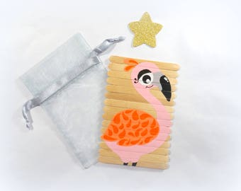 Puzzle for kids, Pink Floyd puzzle, Wooden Flamingo puzzle, Children's puzzle, Busy bag activity, Travel game, Christmas gift for kids
