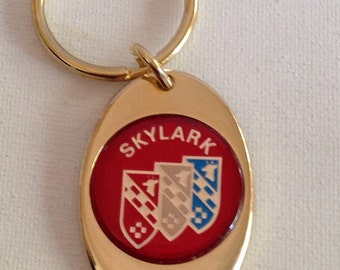 Buick Skylark Keychain Solid Brass Gold Plated Key Chain Personalized Free