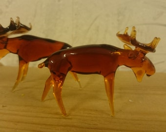 Beautiful little glass moose, a super gift for all the friends of the cuddly Nordic animals!