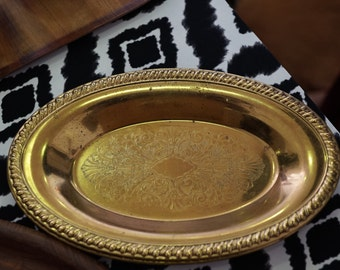 Gold Etched Oval Plates