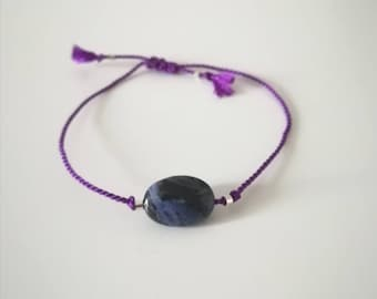 Adjustable purple bracelet