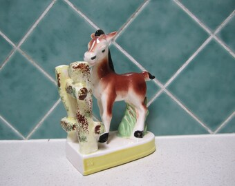 Vintage Ceramic Horse Bookend -Pony - 1950's Horse Figurine - Japanese