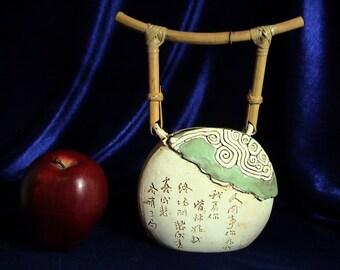 Japanese Tenmoku Malaysia Handicraft Art Pottery Bowl, Free Shipping (312)