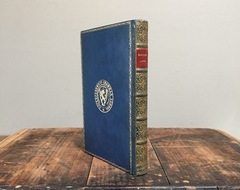 Fine Leather Prize Binding - 1895 Earnest Lives, Decorative Antique Book, Haverford West Grammar School