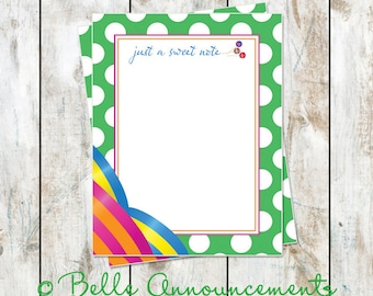 Just a Sweet Note Stationery Card with Envelope