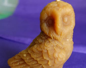 pure beeswax candle - OWL