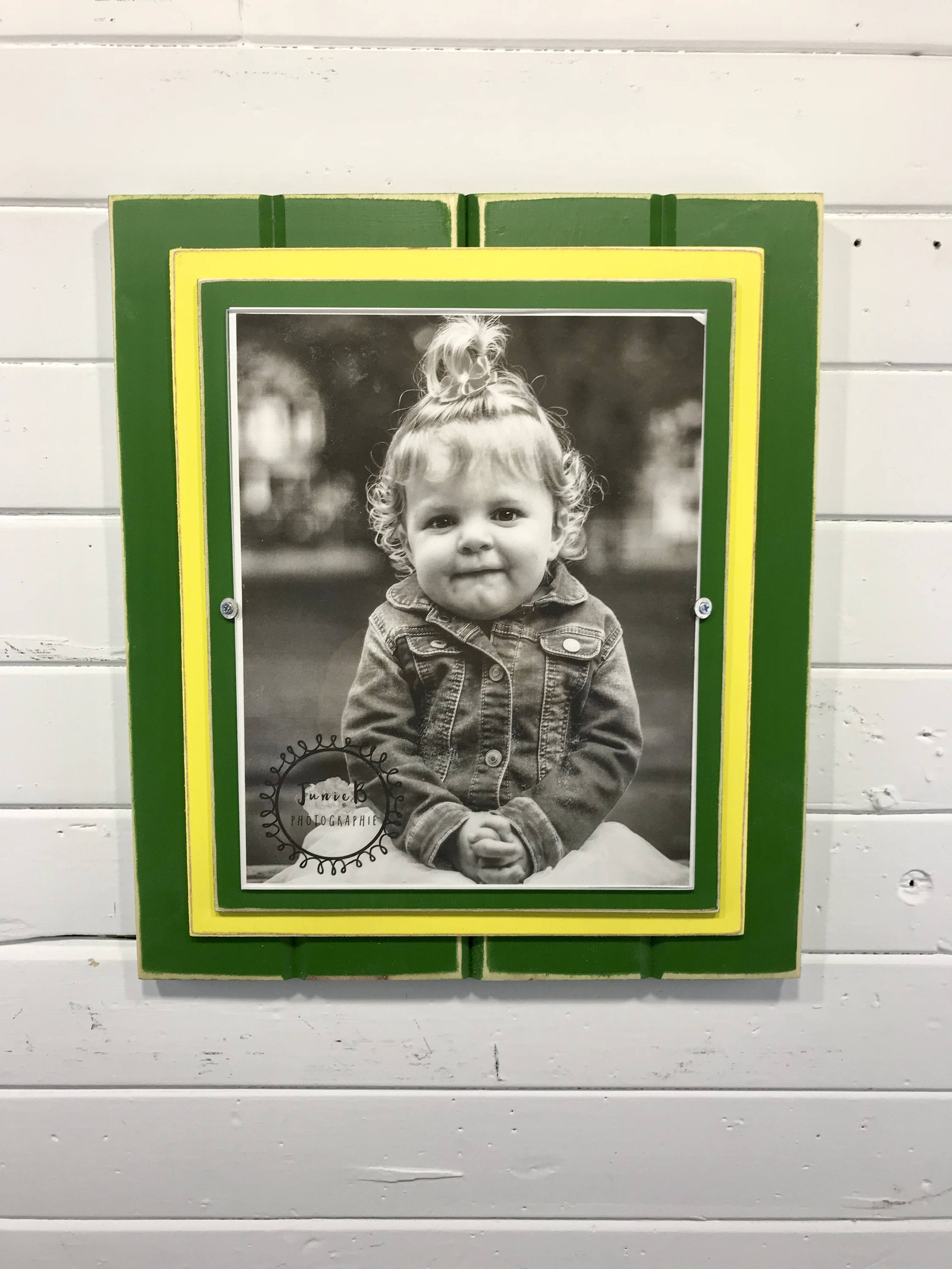 Green and yellow picture frame holds 8x10 john deere colors zoom jeuxipadfo Images