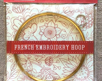 "NEW! FRENCH GENERAL 4"" 6"" 8"" Rolled Brass & Steel Coil Embroidery Hoop stitching frame counted cross stitch embroidery quilting"
