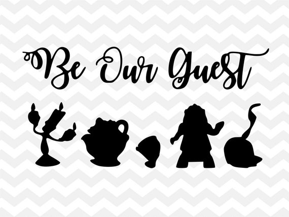 Be Our Guest Disney Svg Beauty And The Beast Lumiere Mrs
