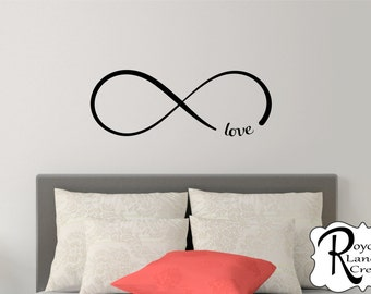 Infinity Decal -Bedroom Wall Decal - Infinity Wall Decal with Love Infinity Love Bedroom Wall  sc 1 st  Etsy & A Life Without Love is No Life At All Vinyl Wall Art Decal