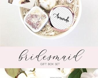 Bridesmaid Proposal Gift Box Set - Bridesmaid Proposal Box - Will You Be My Bridesmaid Gift Box - Rose Gold Bridesmaid GIFT SET (EB3250FPT)