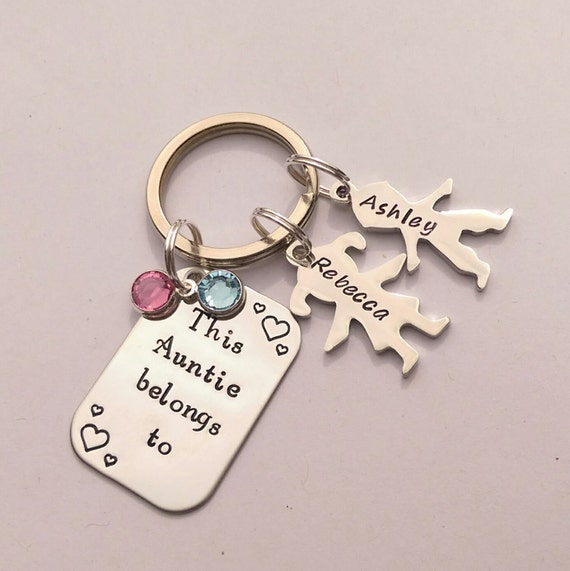 Personalised Auntie gift personalized Auntie keychain This
