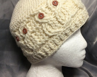 Crochet Cable Stitch Hoot the Owl Hat