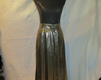 Gold Lame Polka Dotted Evening Skirt