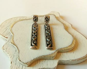 Celtic Knot Sterling Silver Earrings, Vintage, Unique Gift