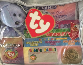 TY Platinum Beanie baby Official club membership kit 1999