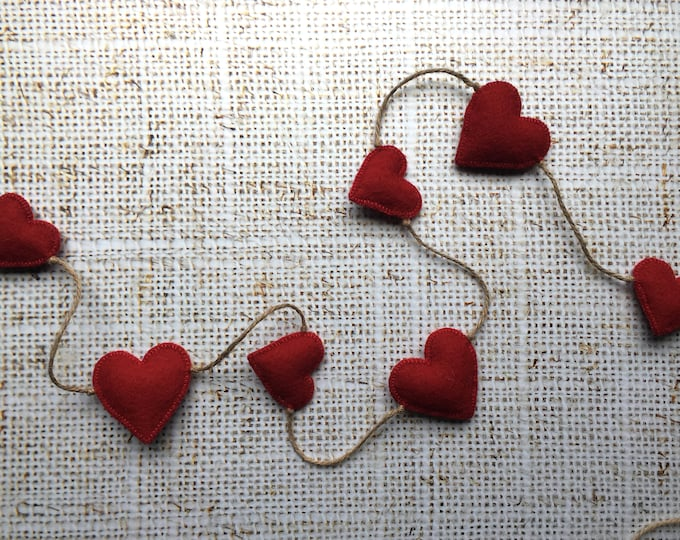 Sweet Red Heart Garland
