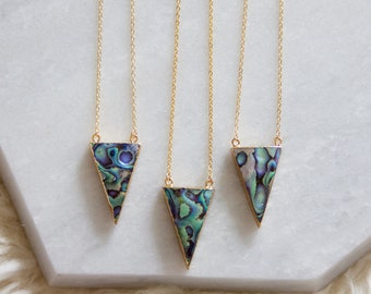 Abalone Triangle Necklace