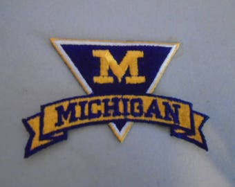 University of Michigan embroidered patches old stock iron  or sew in