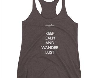 Keep Calm and Wanderlust Tank Top