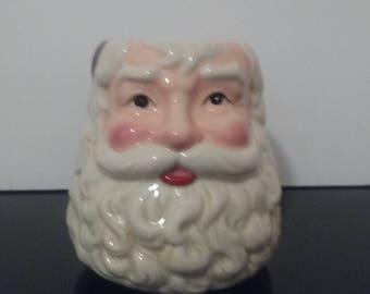 Vintage Large Santa Claus Face Mug!