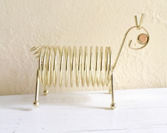 Vintage Gold Metal Mail Storage Rack Holder - Is it a horse?
