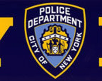 NYPD Full sized Bumper Sticker New York Police Department shield OFFICIALLY LICENSED