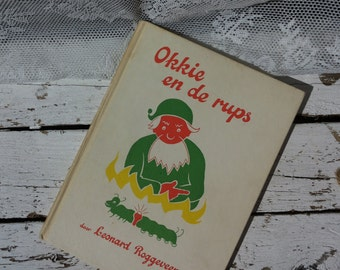 Vintage Reading booklet * Fafan and the caterpillar by Leonard Rogge/Van Goor & Sons/Illustrations/toddlers/gnomes/green Orange