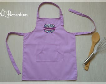 Child apron - purple