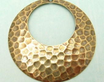 Hammered Hoop, Antiqued Gold, 2 Pc. AG103