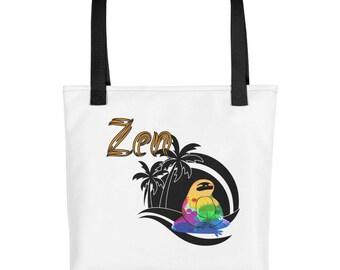 zen sloth yoga Tote bag