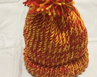 KC Chiefs color knitted Beanie