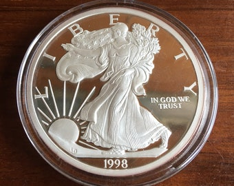 5oz 1998 Silver Eagle .999 Silver Medallion