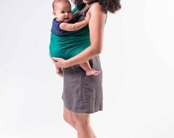 Melrose Linen Ring Sling, Baby Sling, Linen Ring Sling, Baby Wrap, Newborn, Toddler, Green