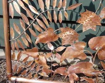Copper garden gate