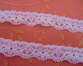 15 mm wide white elastic lace