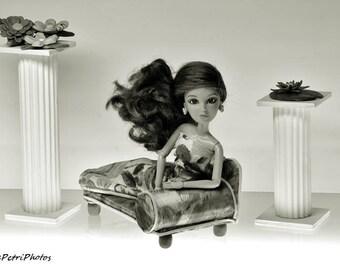Fashion Doll Photography, Liv Doll Photos, B&W, Fine Art Photography, Dolls and Miniatures, Still Life Photography, Barbie Doll Photos, Liv
