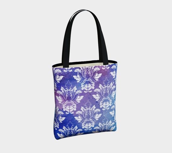 beautiful canvas tote with with Victorian vintage style pattern