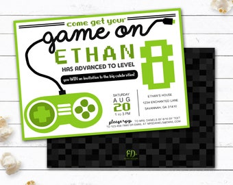 Video game invitation game truck party invitations video video game invitation gamer party invitation video game party invitations video game party invitations stopboris Image collections