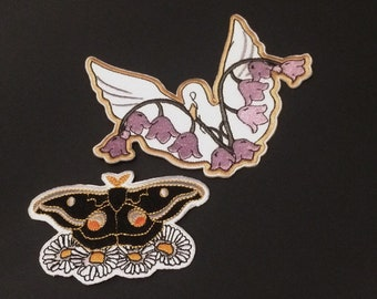 Two pack patch set Moth & Swan