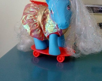 Vintage Rare My Little Pony Skater Outfit and Skateboard, MLP, TLC Needed
