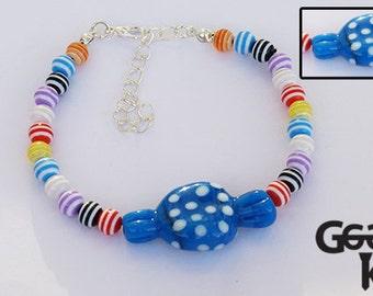 Lampwork Sweetie Bracelet, lampwork bracelet, bead bracelet
