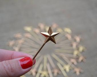Miniature Brass Wands, Set of 12
