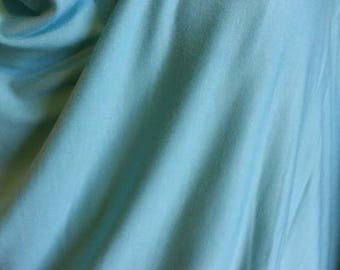 Turquoise jersey knit cotton viscose