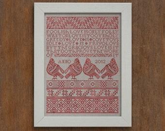 Gracious Love - PDF cross-stitch pattern