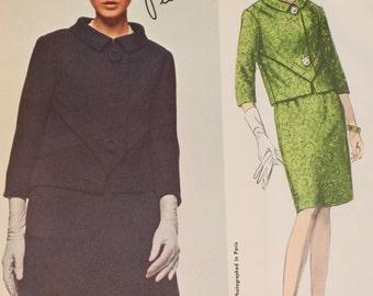 Vogue Paris Original Sewing Pattern # 1662, by Pierre Cardin,   UNCUT,  Vintage Vogue, circa 1960s.
