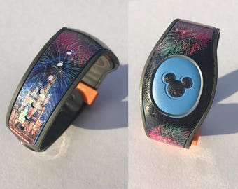 MagicBand 2 Decal, Glitter Happily Every After Castle Decal, MagicBand 2.0 Decal, RTS Ready To Ship